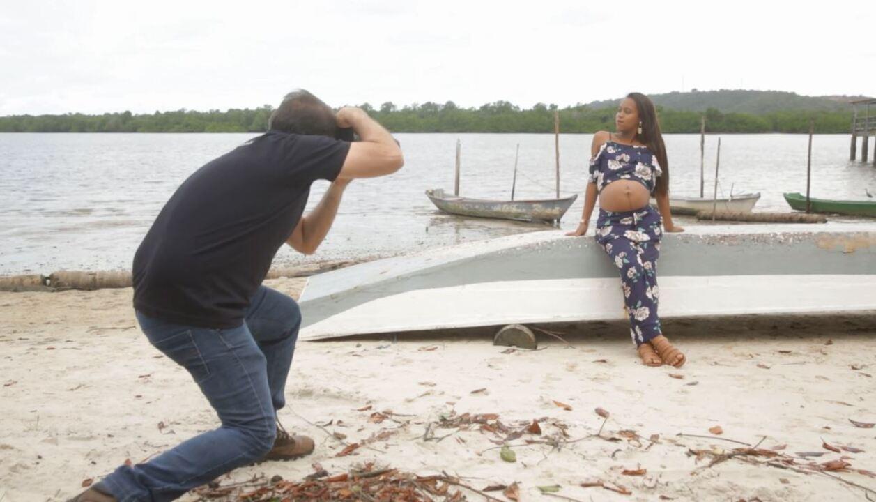 'Combinado' acompanha book fotográfico para grávidas de baixa renda
