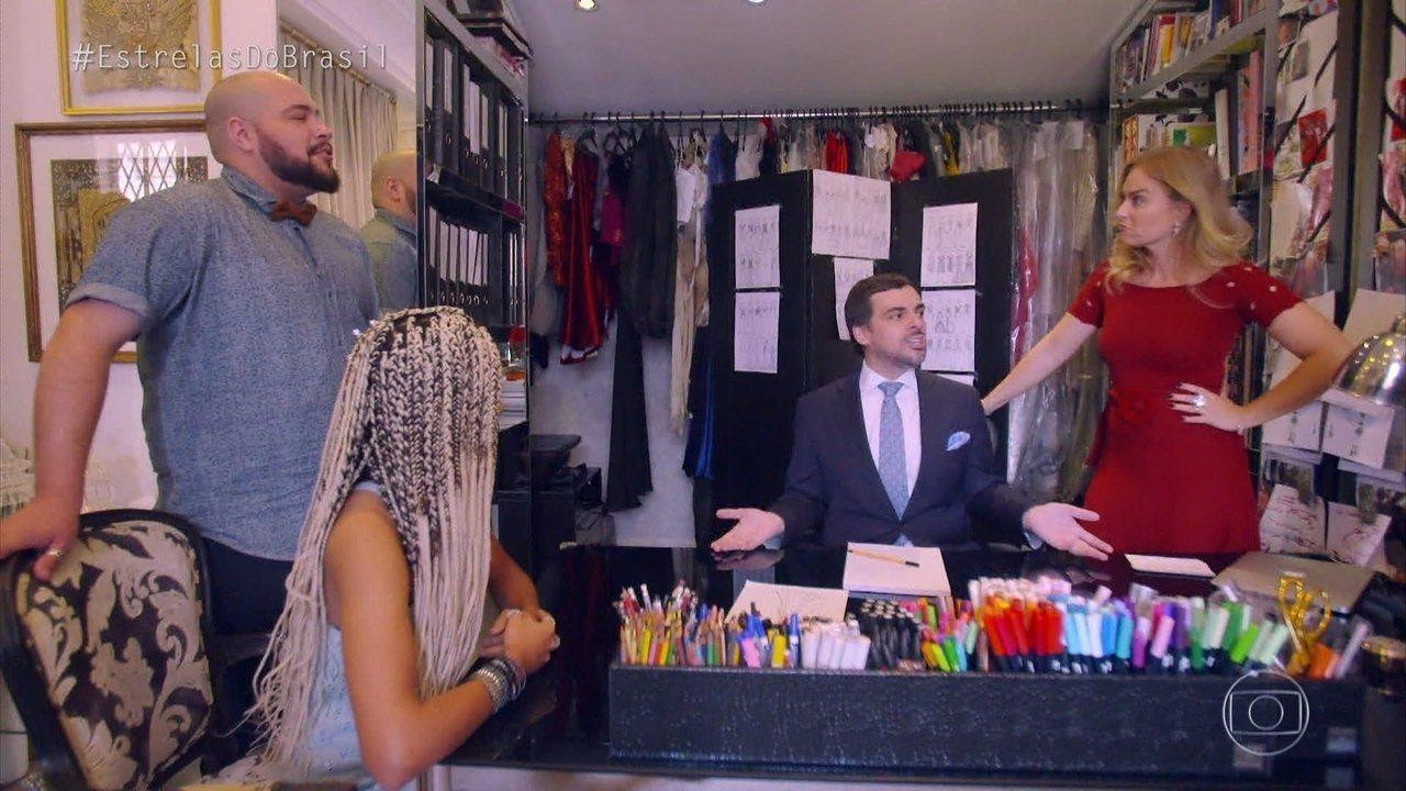 Amanda vai com Angélica e Tiago Abravanel escolher vestido ideal para o casamento