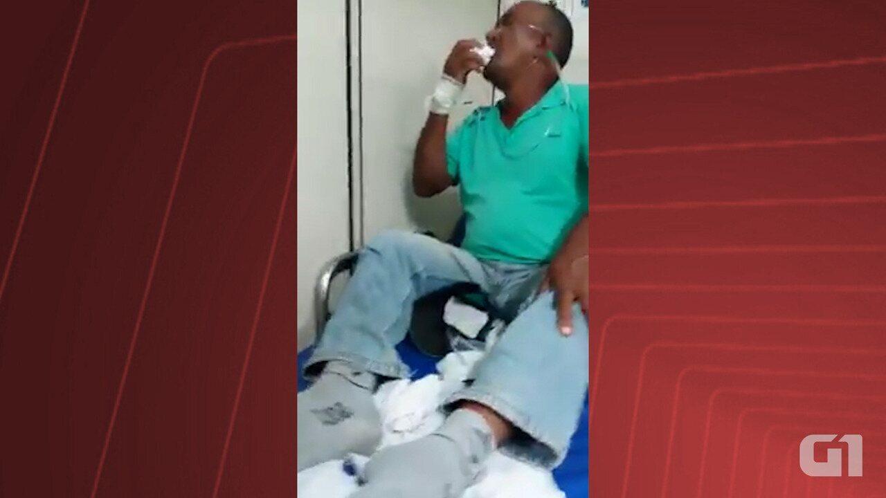 Homem se engasga com dentadura no interior