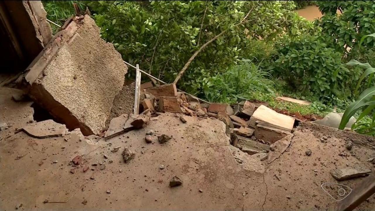 Chuva provoca destruição em Rio Bananal, ES