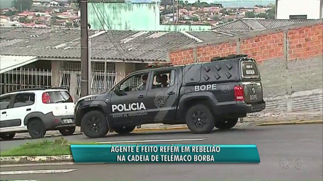 Presos fazem carcereiro refém em rebelião na cadeia de Telêmaco Borba