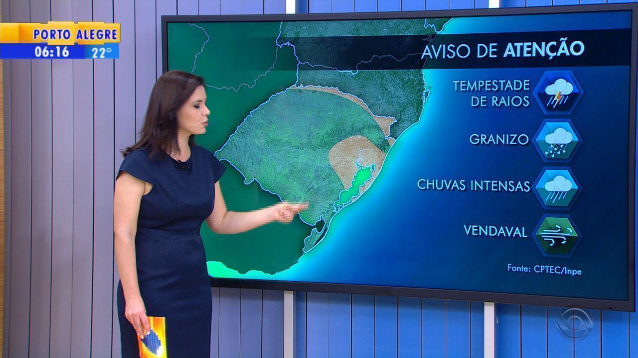 Tempo: Nordeste do RS tem alerta de temporal nesta quinta-feira (7)