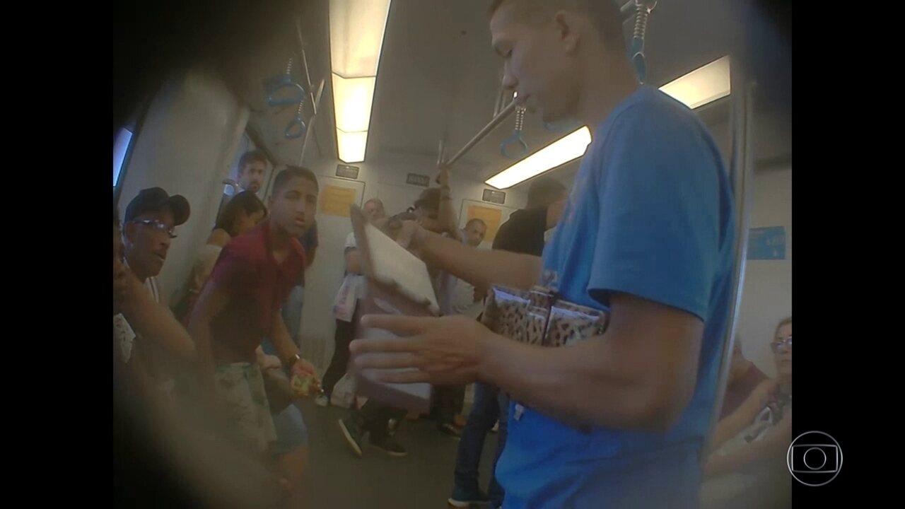 PM apreendeu mais de 500 produtos vendidos irregularmente por ambulantes no metrô