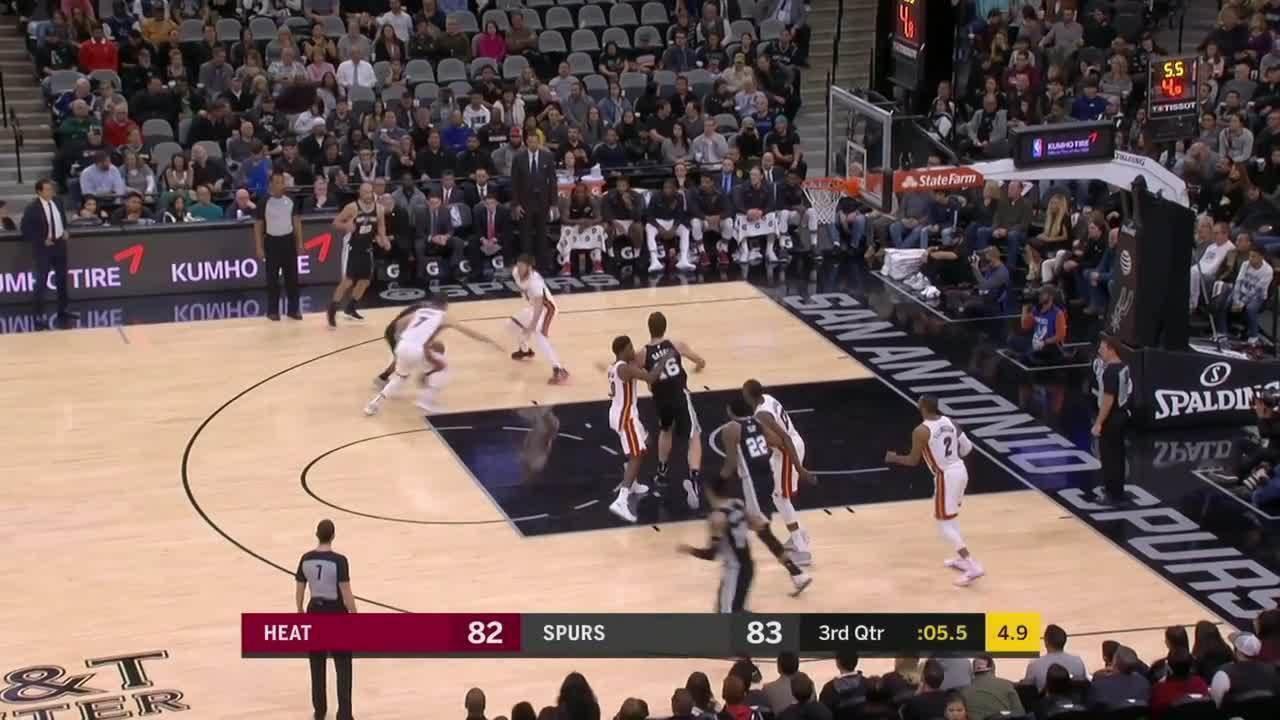 Melhores momentos de San Antonio Spurs 117 x 105 Miami Heat pela NBA