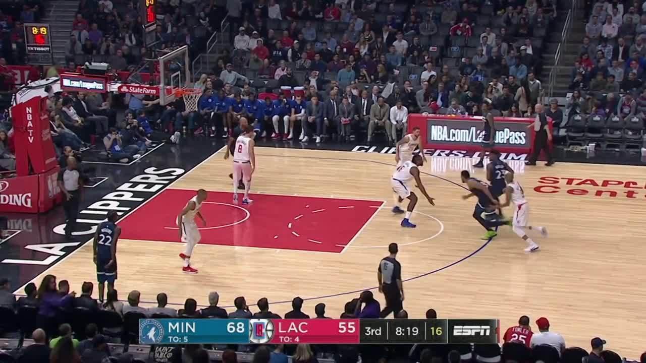 Melhores momentos de Minnesota Timberwolves 113 x 107 Los Angeles Clippers pela NBA