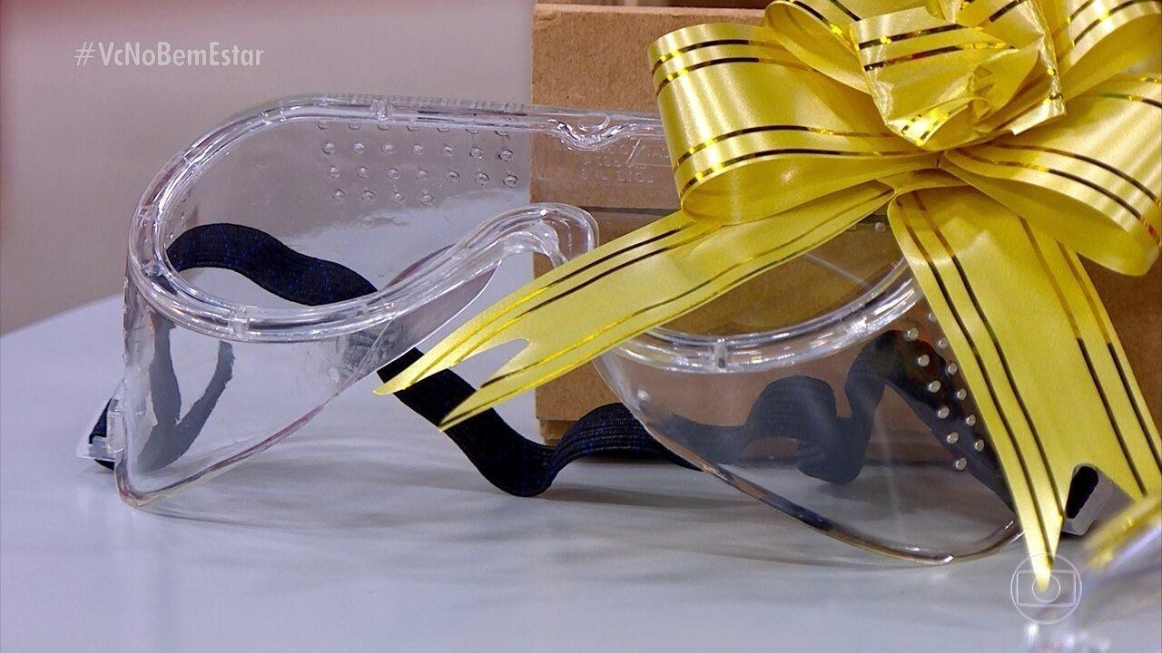 Vários serviços domésticos pedem óculos de proteção