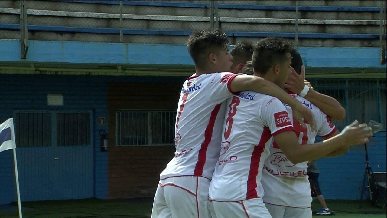 Os gols de Huracán 2 x 1 Ponte Preta, pela Copa RS de futebol sub-20