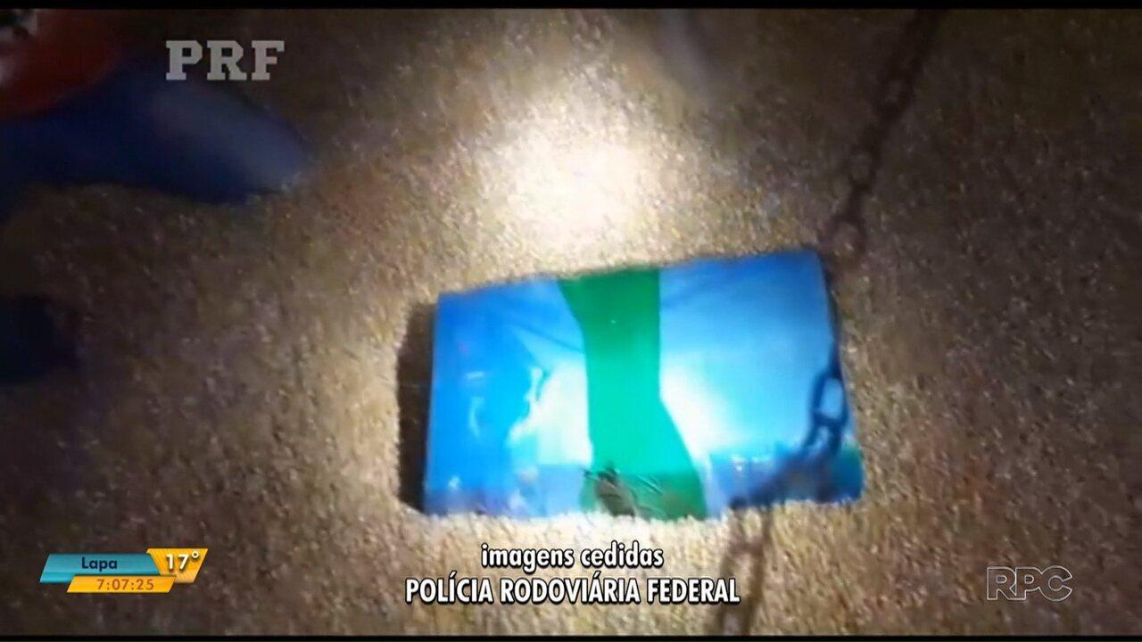 PRF apreende mais de três toneladas de maconha na região de Curitiba