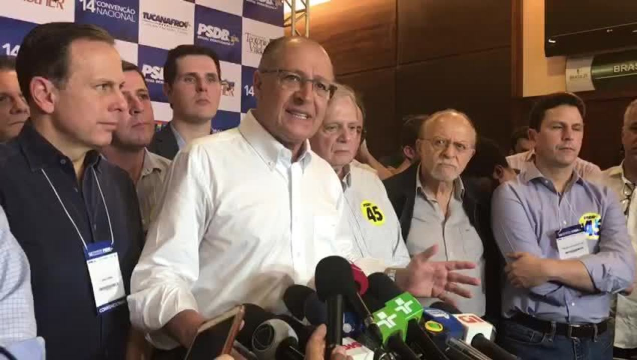 Alckmin diz que Doria tem todas as condições para ser candidato à Presidência