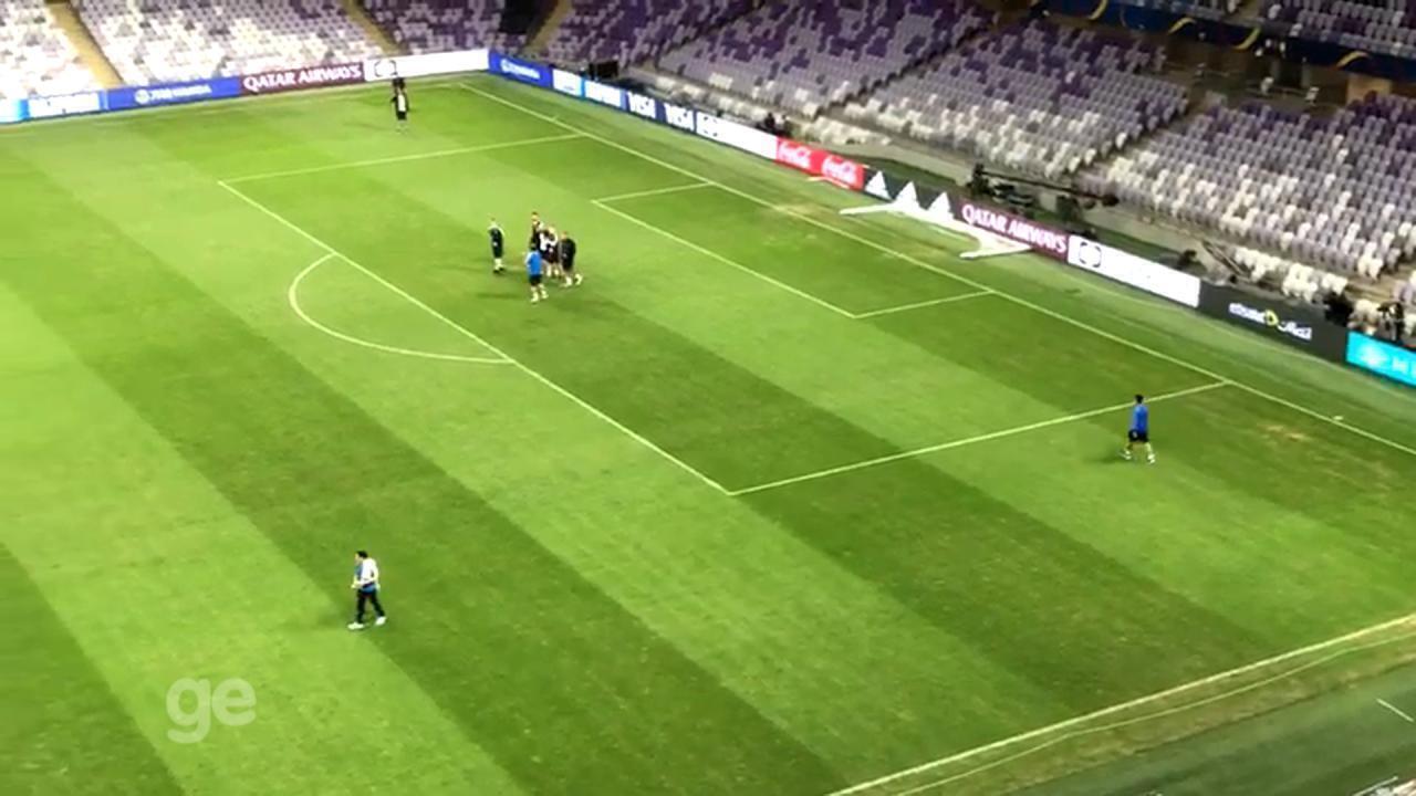Grêmio faz reconhecimento do estádio da semifinal do Mundial de Clubes