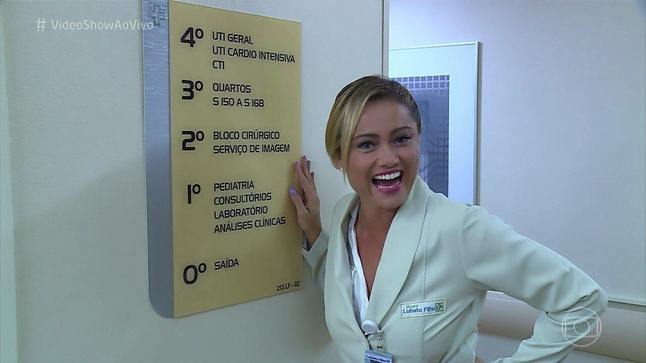 Ellen Rocche mostra os bastidores do hospital de 'O Outro Lado do Paraíso'