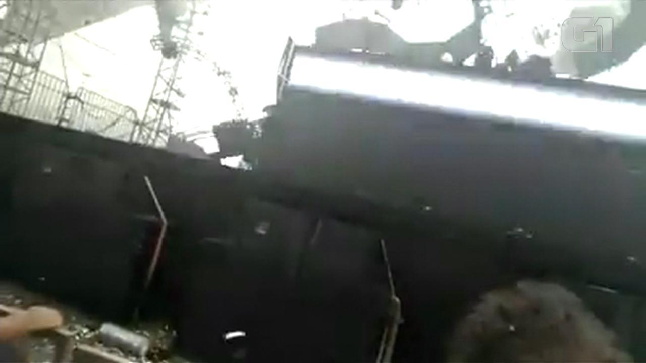 Desabamento de palco em festa rave causa morte e deixa feridos em Esteio