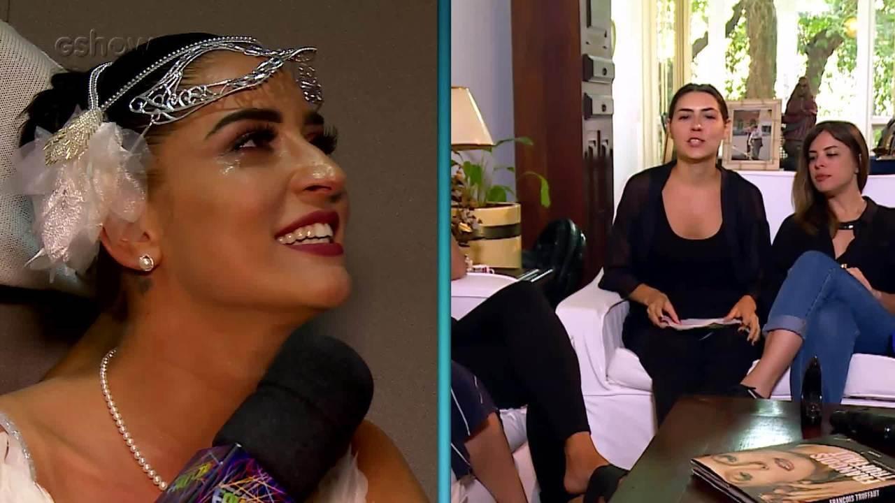 Maria Joana se emociona com depoimento de amigas de infância no 'Arquivo Confidencial'