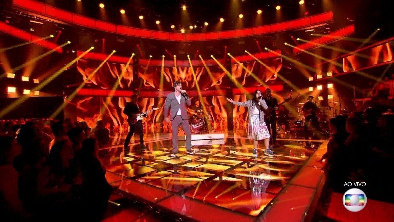 André Frateschi e Valentina cantam 'Come Together'
