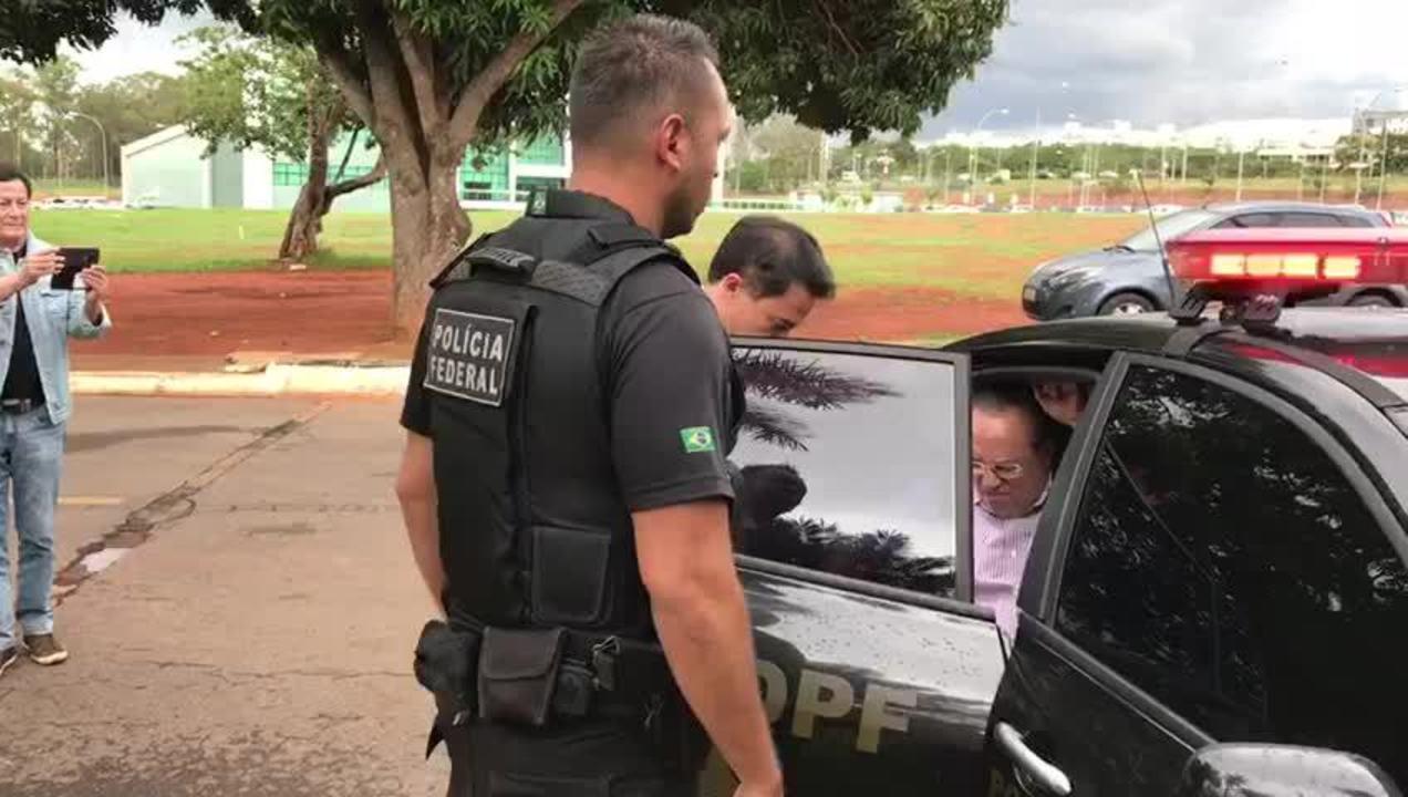 Deputado Paulo Maluf chega ao IML em Brasília para realizar exames médicos