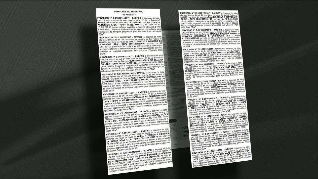 MP-RJ apura dispensa de licitação em contratos de refeições em prisões do RJ