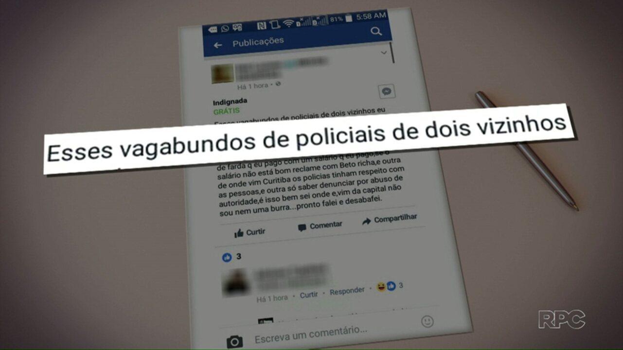 Mulher é ofende policiais em rede social e é detida em Dois Vizinhos