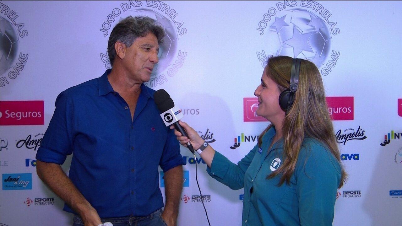 Renato Gaúcho fala de planos com o Grêmio e brinca sobre forma física