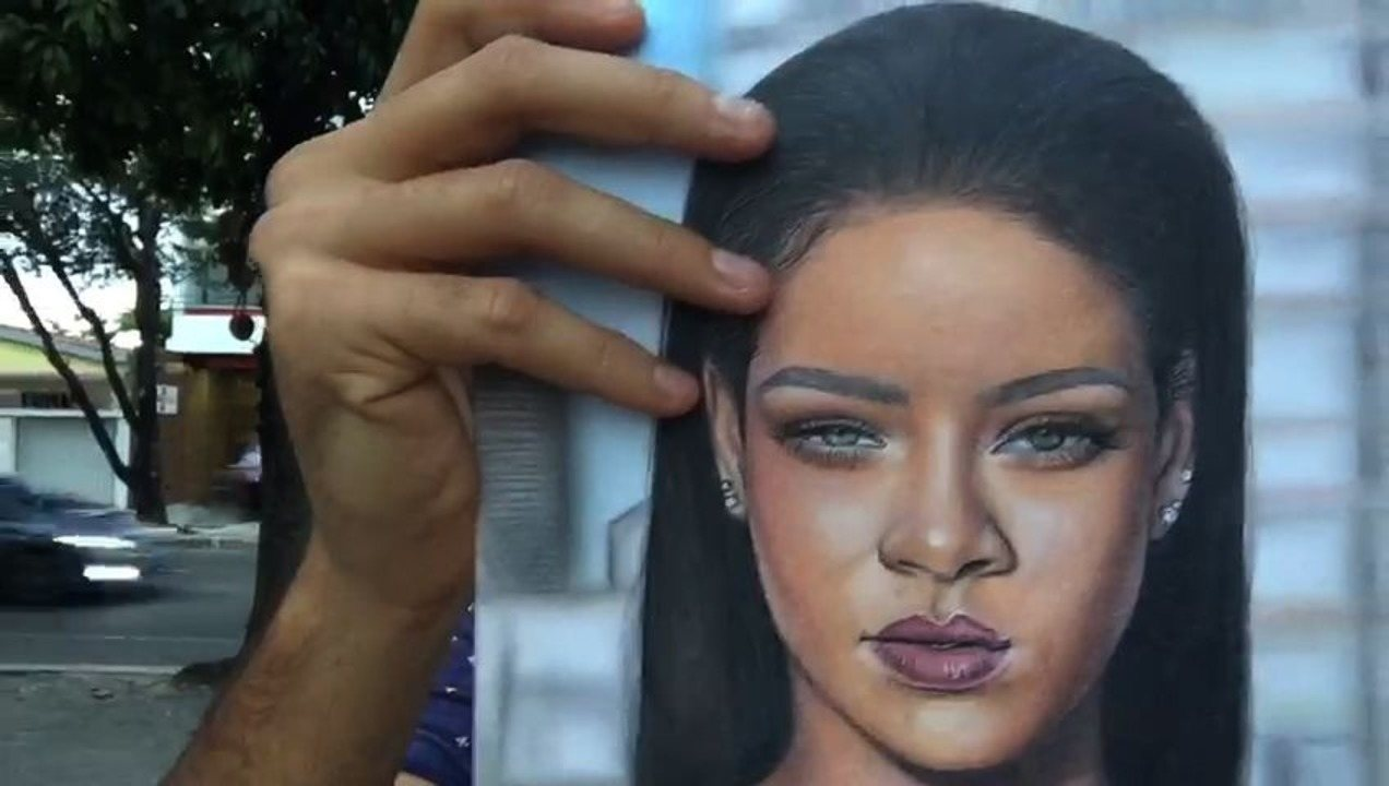 Almir Gadelha encontra jovem que faz desenhos que parecem fotografias