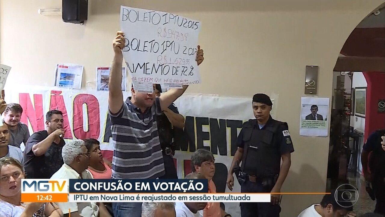 Câmara de Nova Lima aprova aumento do IPTU com protesto de moradores