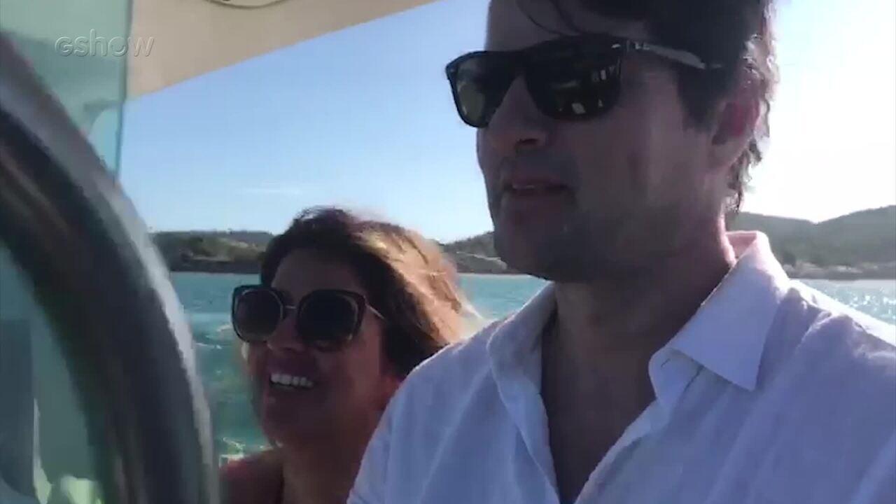 Marcelo Serrado e Mariana Santos gravam últimas cenas em Búzios