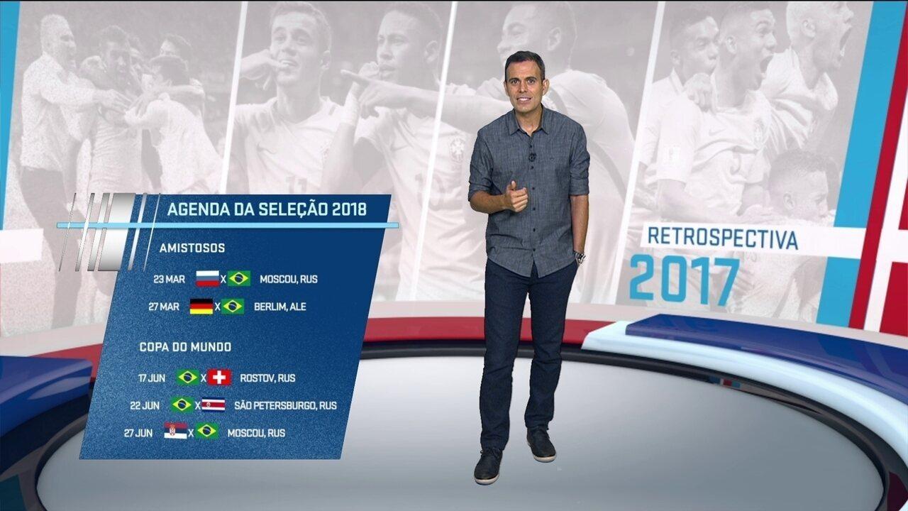 Retrospectiva 2017: Confira a trajetória da seleção brasileira - integra