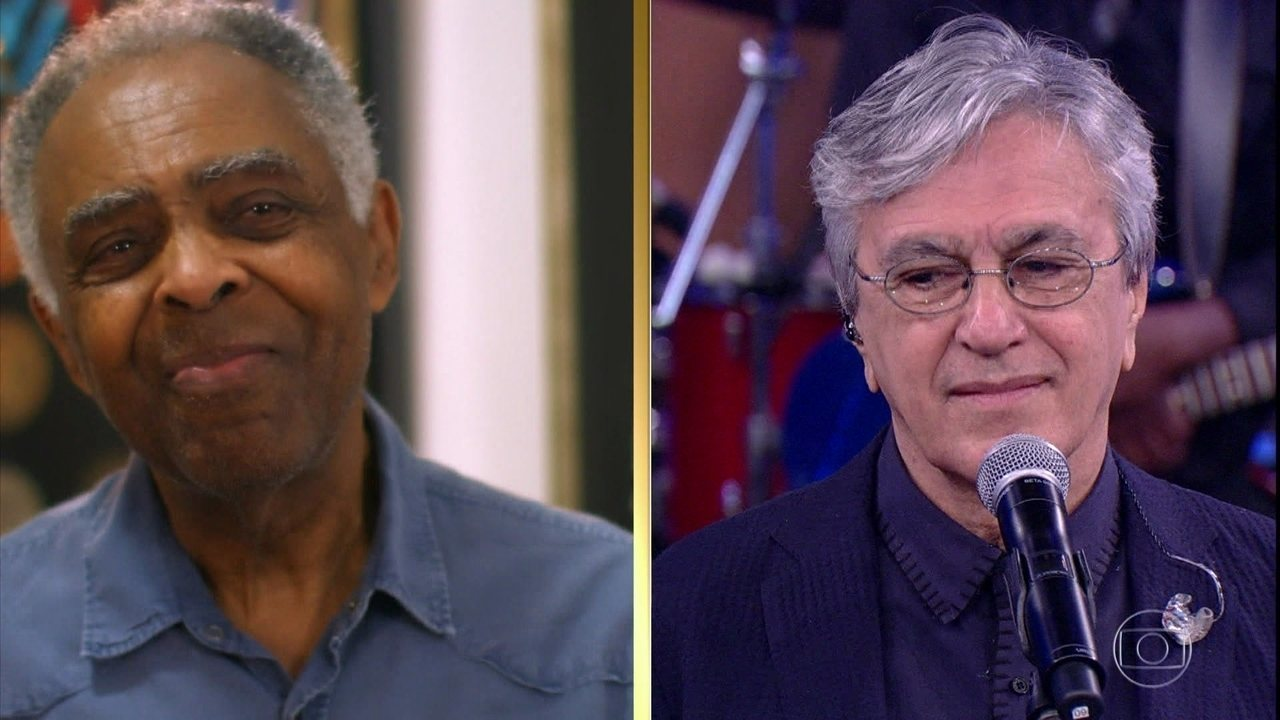 Gilberto Gil se emociona ao falar do amigo Caetano Veloso