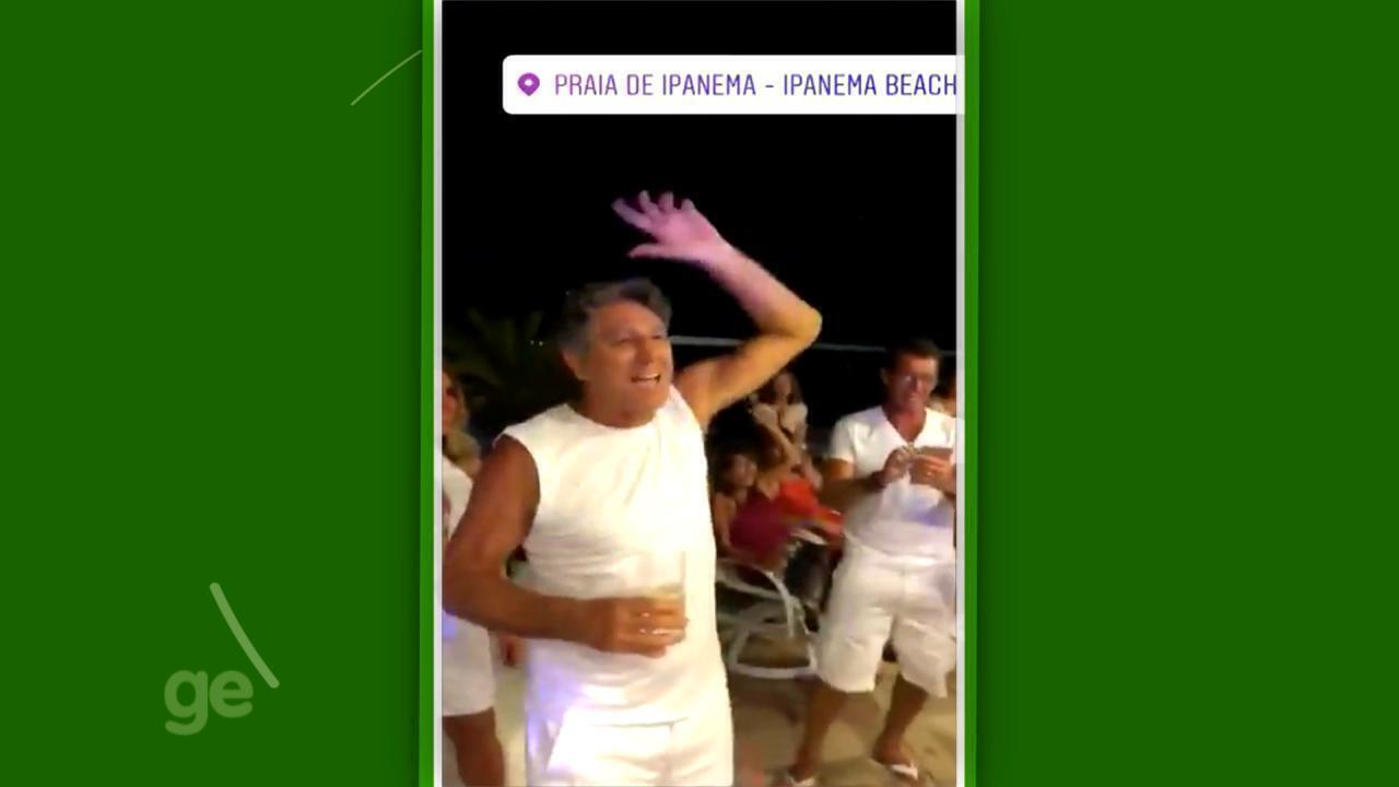 Vídeo mostra Renato Portaluppi cantando hino do Grêmio com familiares na virada do ano
