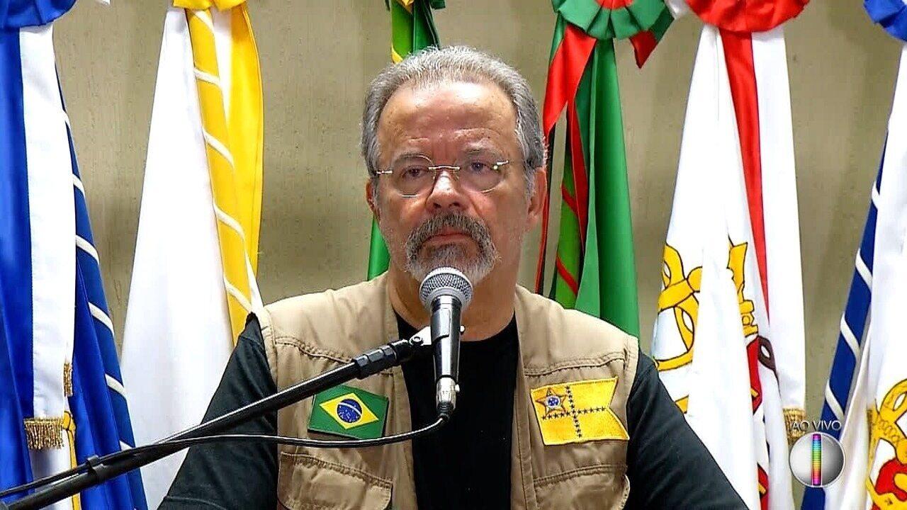 Ministro da Defesa, Raul Jungmann, participa de coletiva em Natal