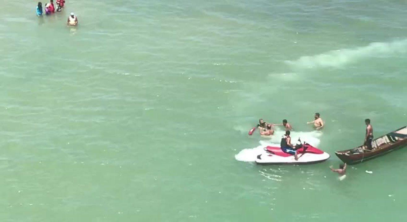 Duas pessoas morrem afogadas no Pontal do Peba; Veja vídeo