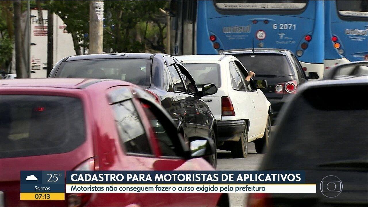Motoristas de aplicativos devem fazer curso exigido pela Prefeitura para poder trabalhar