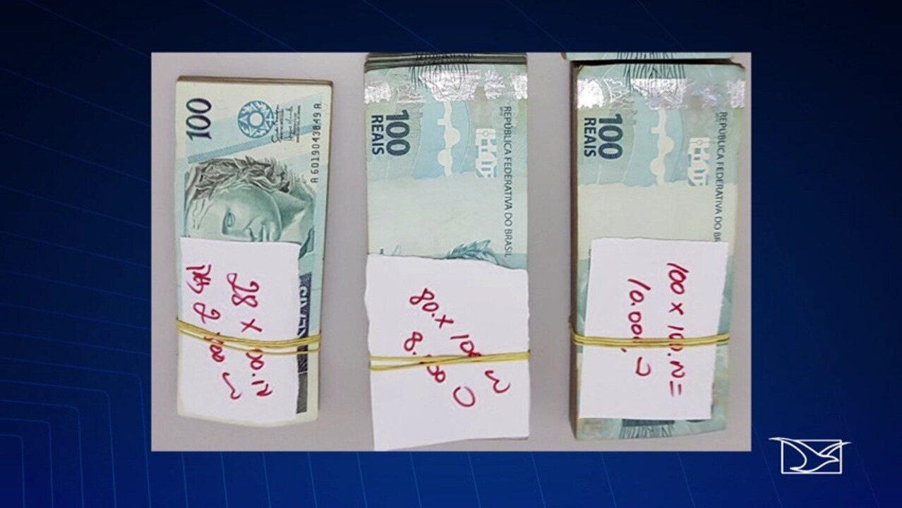 Dinheiro apreendido é depositado em conta da Justiça
