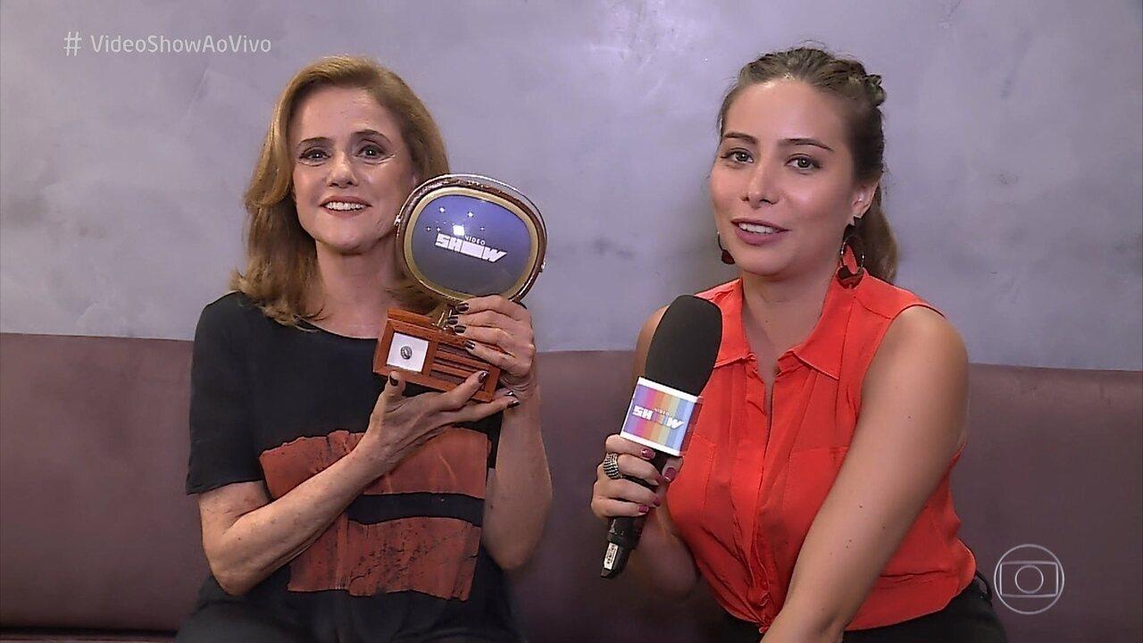 Sophia ganha prêmio de vilã do ano do 'Vídeo Show'