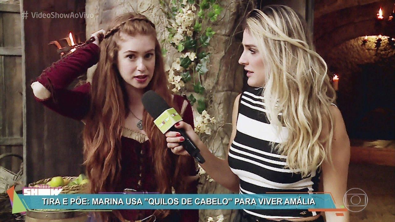 Marina Ruy Barbosa apresenta a heroína medieval Amália