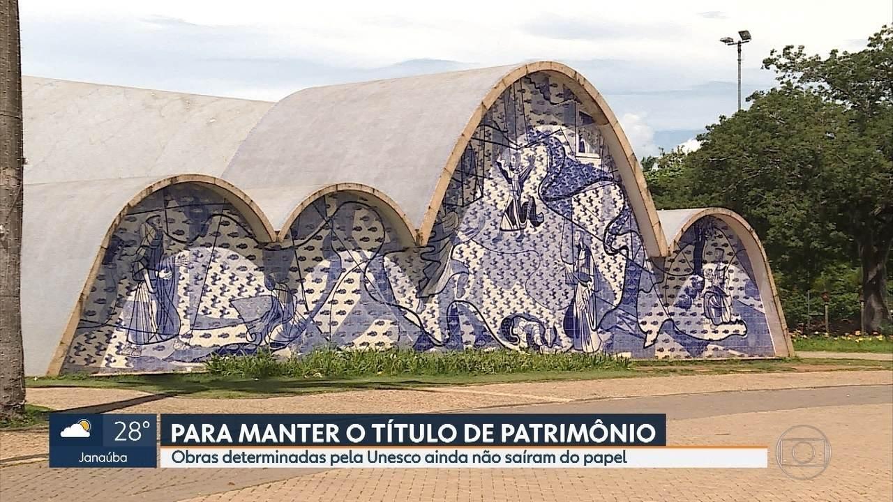 Algumas obras na Pampulha determinadas pela Unesco ainda não saíram do papel