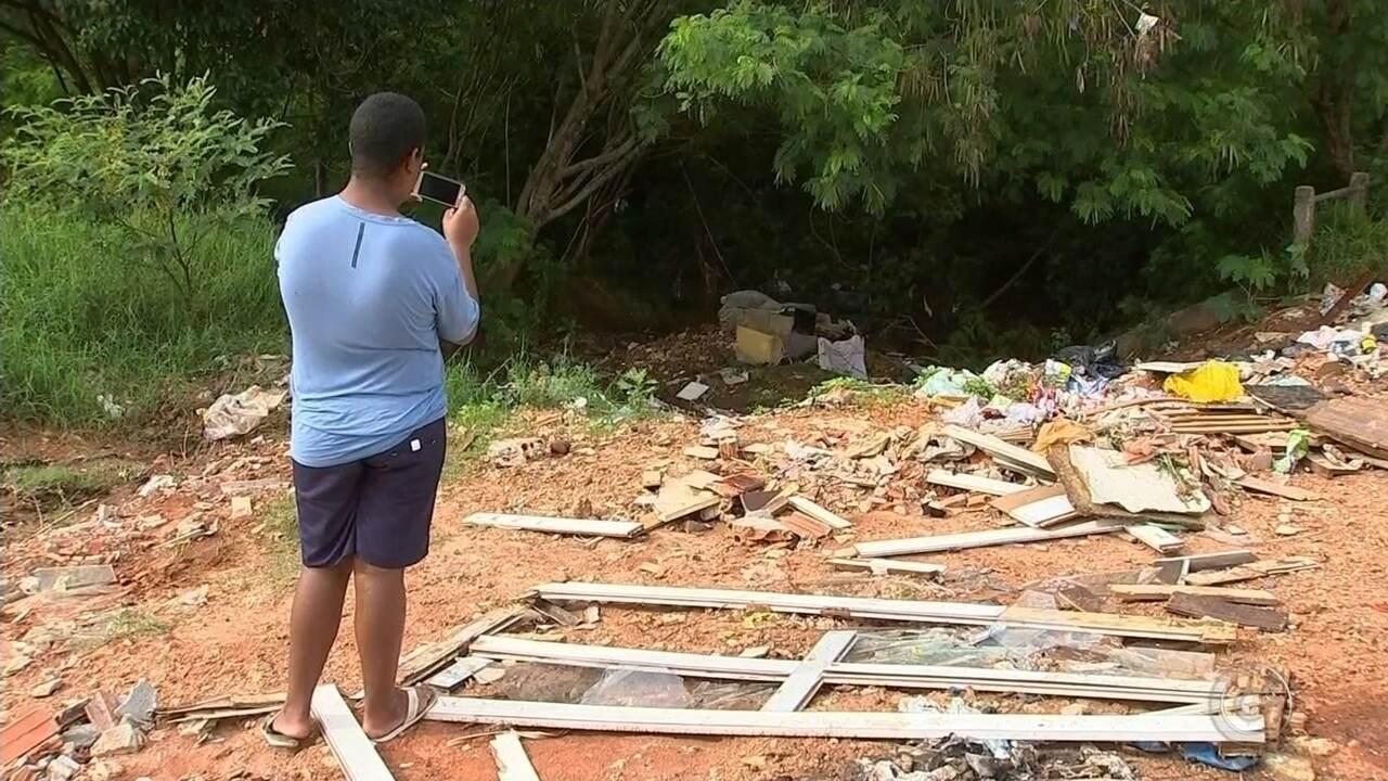 Descarte irregular de lixo em bairro de Itapetininga preocupa moradores