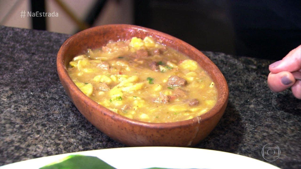 Godó é um dos pratos tradicionais da chapada Diamantina