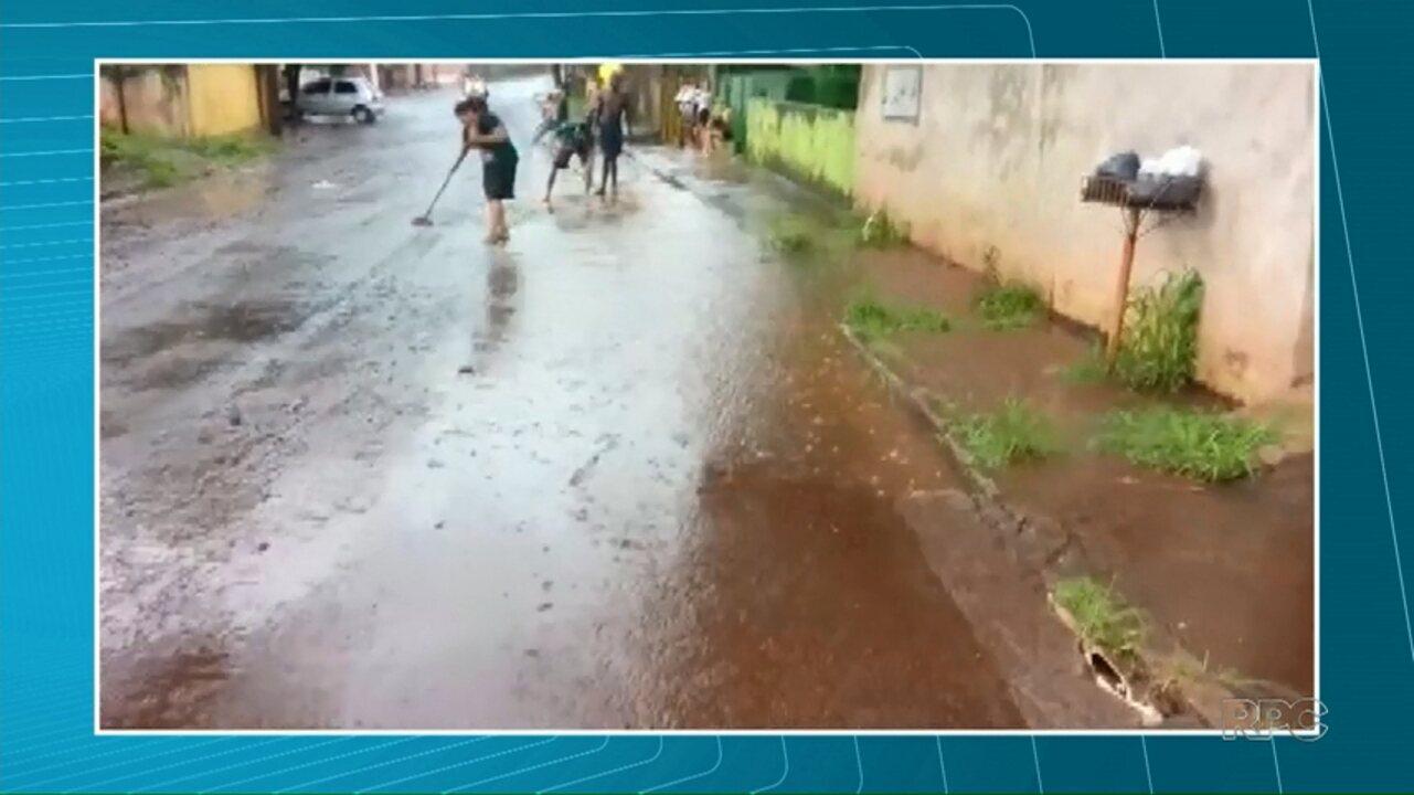 Chuva provoca transtornos na zona oeste de Londrina