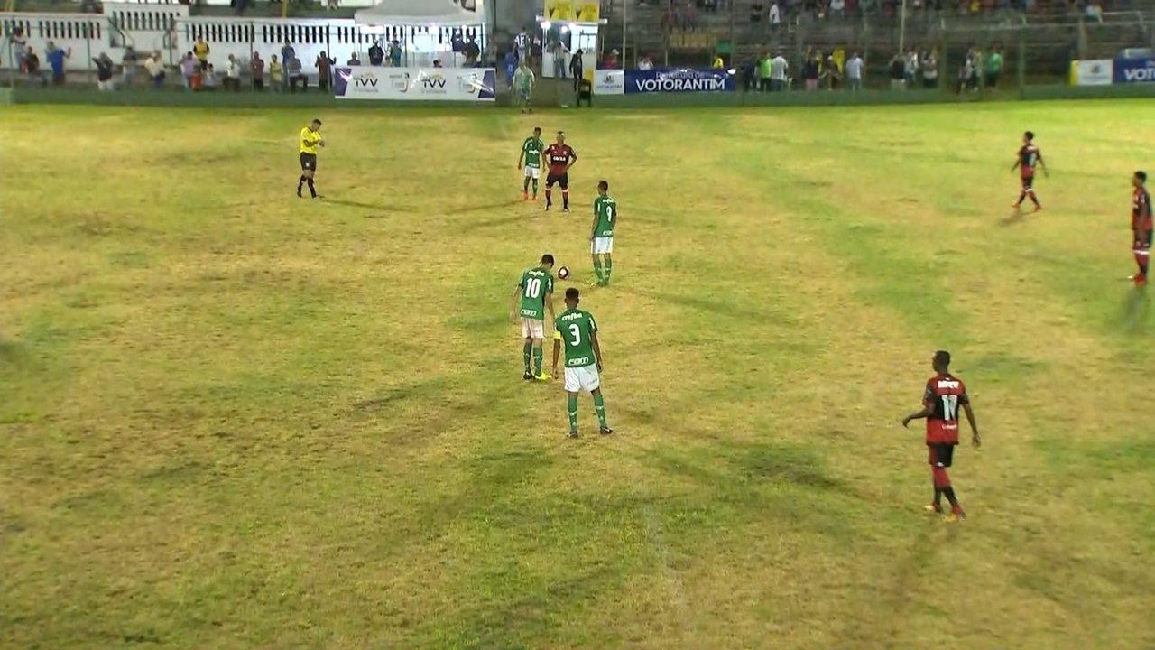 Veja o primeiro tempo de Palmeiras x Flamengo pela Copa Brasil Infantil  sub-15 a1f25579f0915