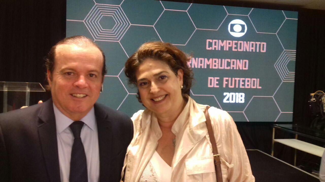 Festa de lançamento do Campeonato Pernambucano 2018 recebe representante da TV Grande Rio
