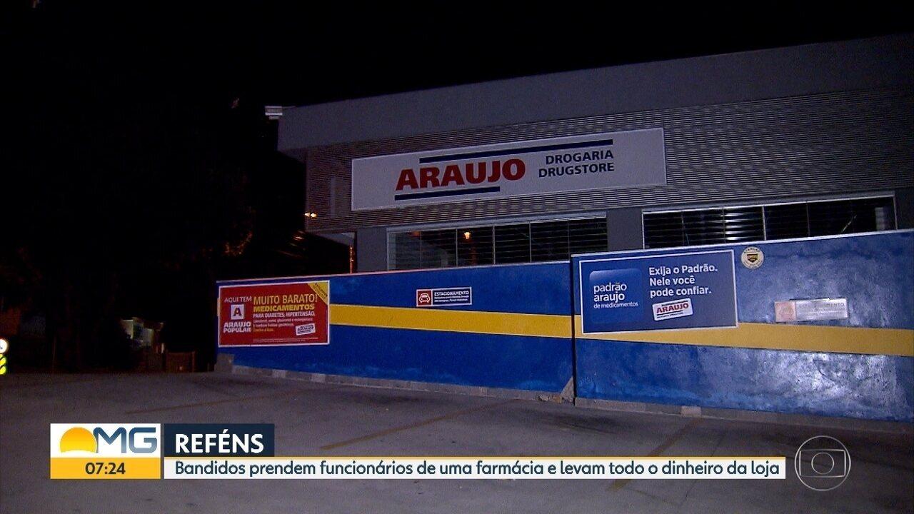 Criminosos invadem farmácia e rendem funcionários em Belo Horizonte