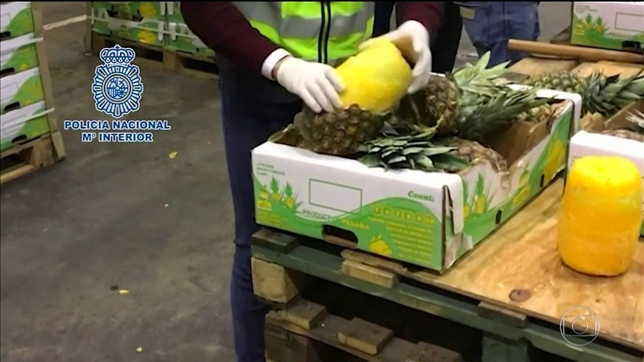Abacaxis recheados de cocaína são encontrados na Espanha