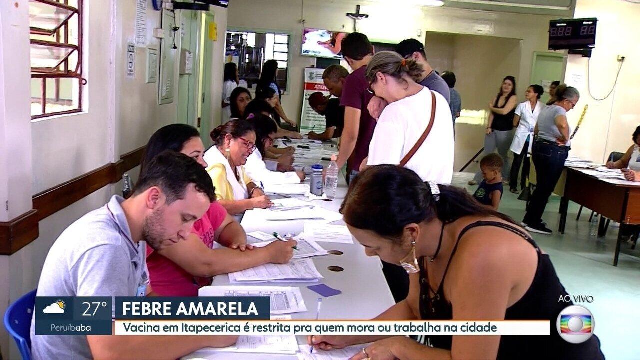 Vacina em Itapecerica da Serra é restrita para quem mora ou trabalha na cidade