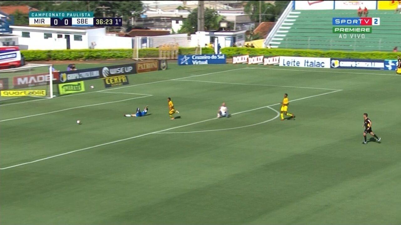 Lucas Crispim é lançado por Celsinho e perde chance contra o Mirassol