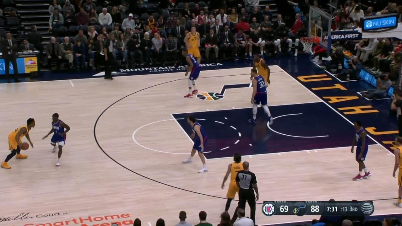 Melhores momentos de Utah Jazz 125 x 113 Los Angeles Clippers pela NBA