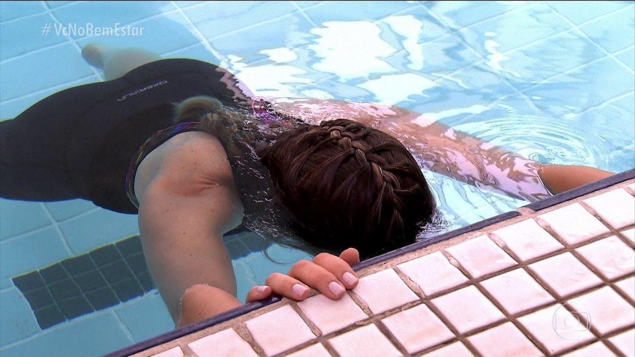 Mariana Ferrão aprende técnica para aumentar o fôlego no surfe