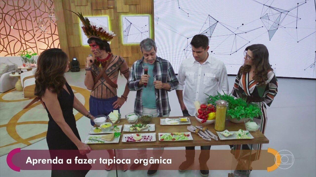 #TBT do 'Tá no Ar': Obirajara Dominique reclama da tapioca no 'Encontro com Fátima Bernardes'!