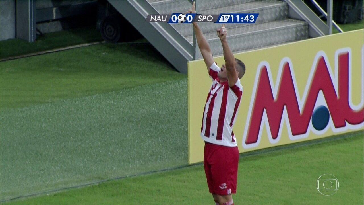 Wallace Pernambucano marcou o primeiro gol contra o Sport numa bonita cabeçada