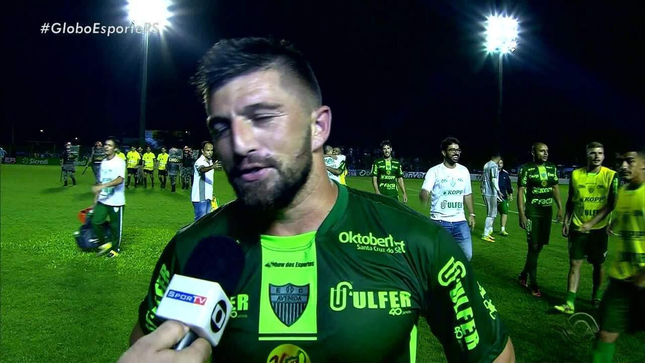 Volante do Avenida fala do gol contra o Grêmio