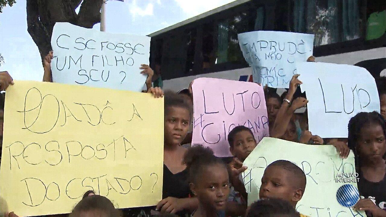 Corpo de menina morta no Jardim Santo Inácio será enterrado em Paripe; família acusa PMs